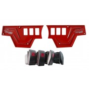 XP1000 6 Switch Dash Panel Red