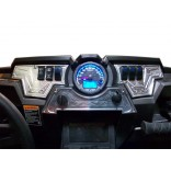 RZR XP1000 3 piece (only) Dash Panel Silver