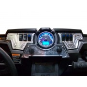 RZR XP1000 3 piece 6 Switch Dash Panel Silver