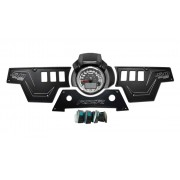 XP1000 3 piece Dash Panel Black with switches