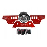 XP1000 3 piece Dash Panel Red with switches