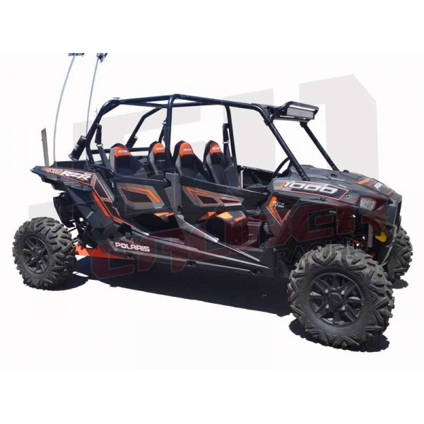 Polaris rzr roll cage radius light bar rack mount with led light bar polaris 2014 xp1000 light bar mount combo installed right side offset profile aloadofball Image collections