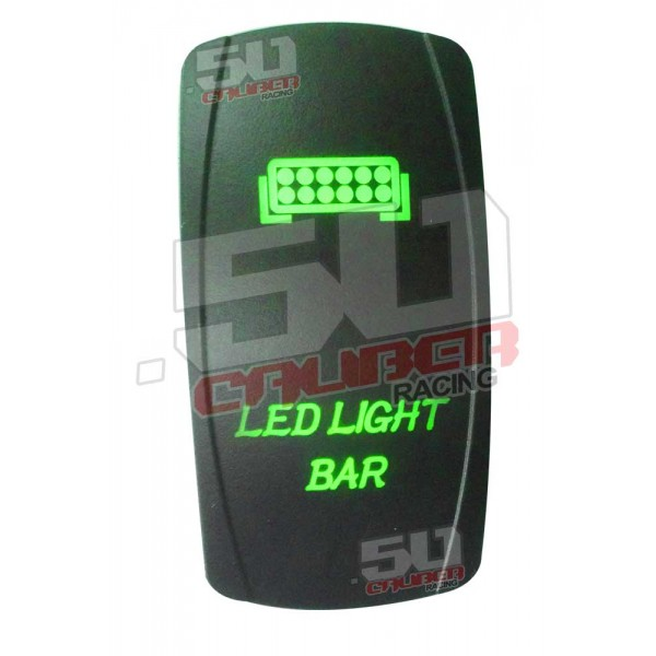 Dual led 3 pin illuminated 50 caliber racing onoff rocker switch illuminated onoff rocker switch led light bar green aloadofball Choice Image