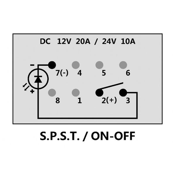 Dual LED 3 pin Illuminated 50 Caliber Racing On/Off Rocker Switch ...