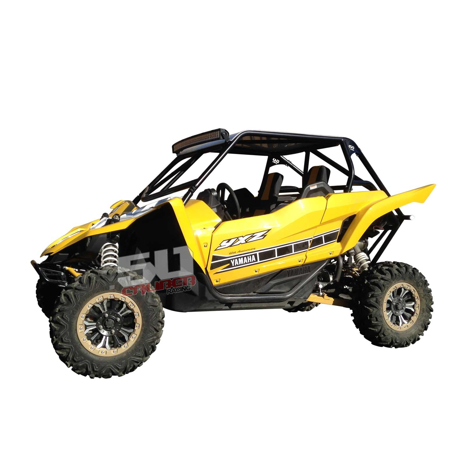Yamaha YXZ 1000R roll cage with integrated rear bumper and