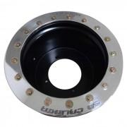 12x6 Beadlock wheel 4x156 .190 4/2 Black Powdercoat