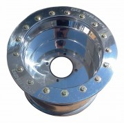 12x6 Beadlock wheel 4x156 .190 4/2 Polished