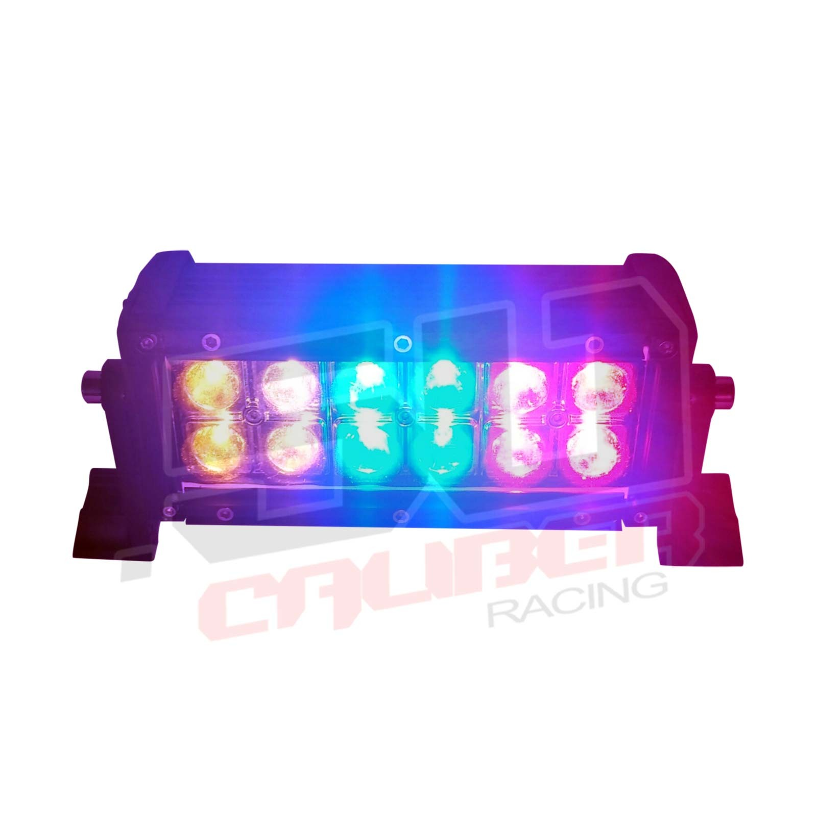 Multicolor flashing 6 inch led light bar with wireless remote for 6 inch multicolor led light bar with wireless remote brilliant red blue and amber lighting aloadofball Image collections
