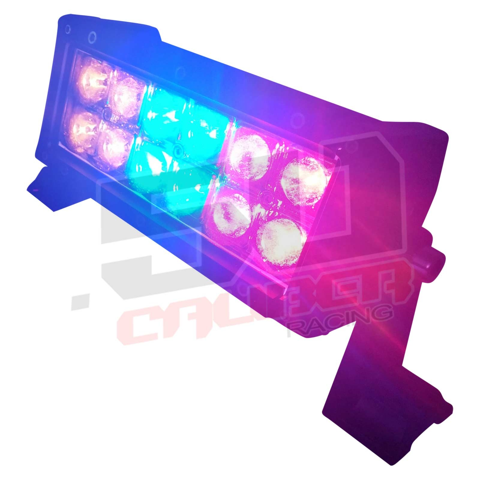 Multicolor flashing 6 inch led light bar with wireless remote for 6 inch multicolor led light bar with wireless remote amazing red blue and amber light aloadofball Image collections