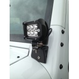 A-Pillar LED Pod Light Mount Brackets for Jeep Wrangler