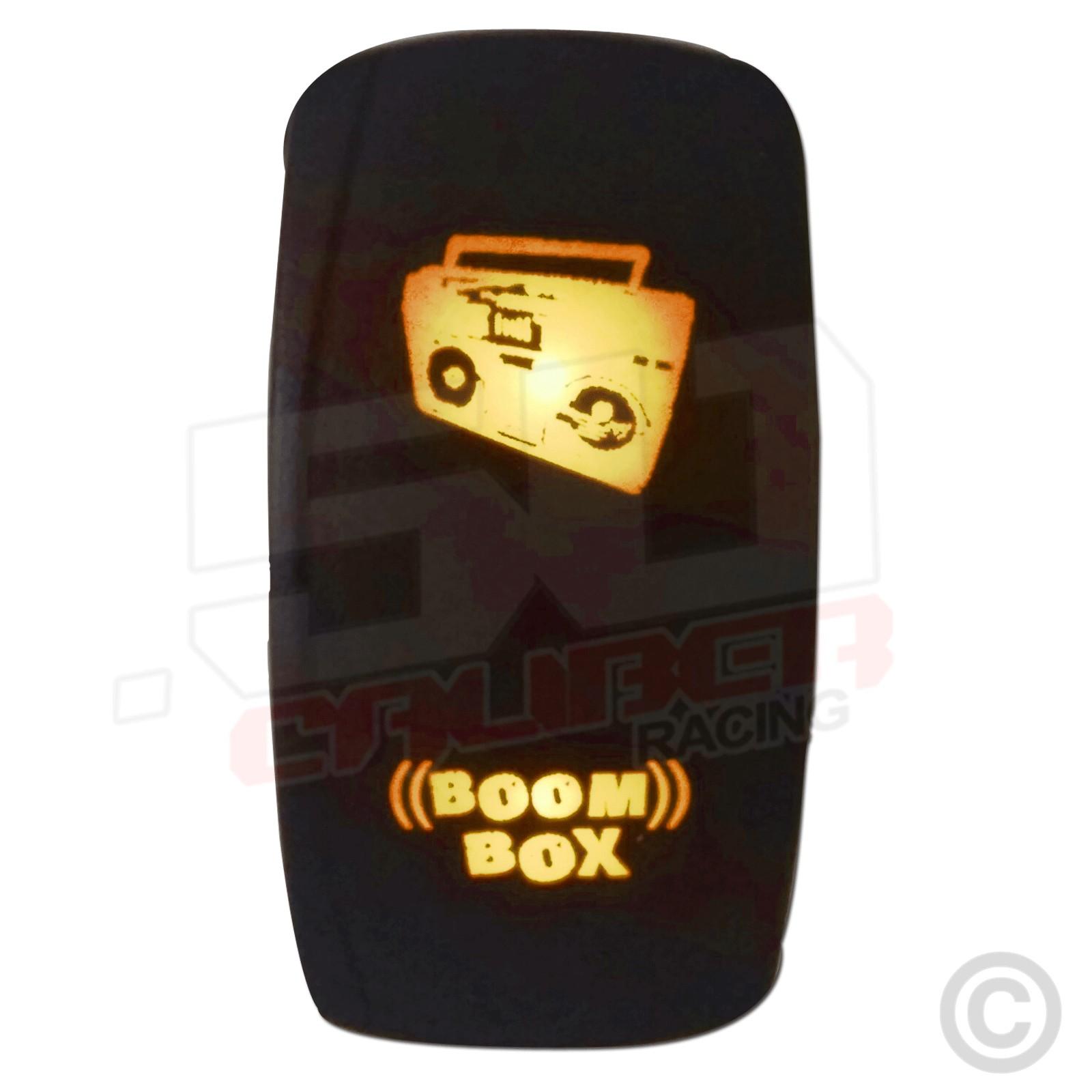 Illuminated Red Blue Orange Green Led Rocker Switch Radio Light Sand With Legend Offroad Lights On Off Boom Box