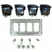 Chrome Dash Panel 4 Switches included RZR Polaris XP Series