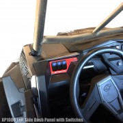 BLUE - RZR XP1000 Left Side 3 Switch Dash Panel