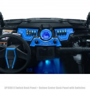 BLUE - RZR XP1000 8 Switch Dash Panel. 3 Piece + 6 Switches included.