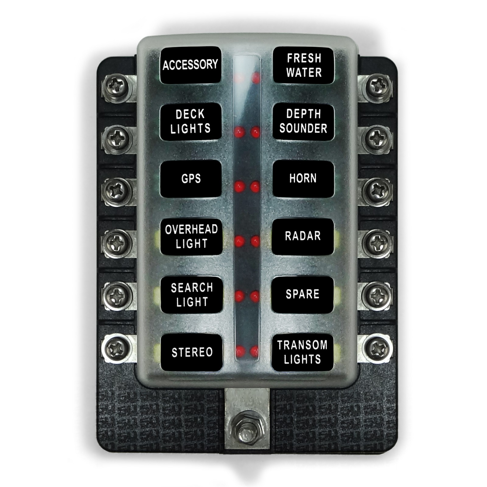 12v 12 piece fuse block power block for wiring your vehicle ... Main Power Switch Fuse Box on fuse adapters, fuse cover, fuse tool, relay box, contactor box, circuit breaker box,