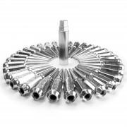 CHROME - 14x1.50mm Spiked Lug Nuts