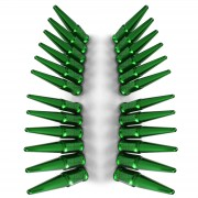 GREEN - 1/2x20mm Spiked Lug Nuts