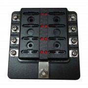 8 Way Fuse Block - Screw Terminals - LED Indicators
