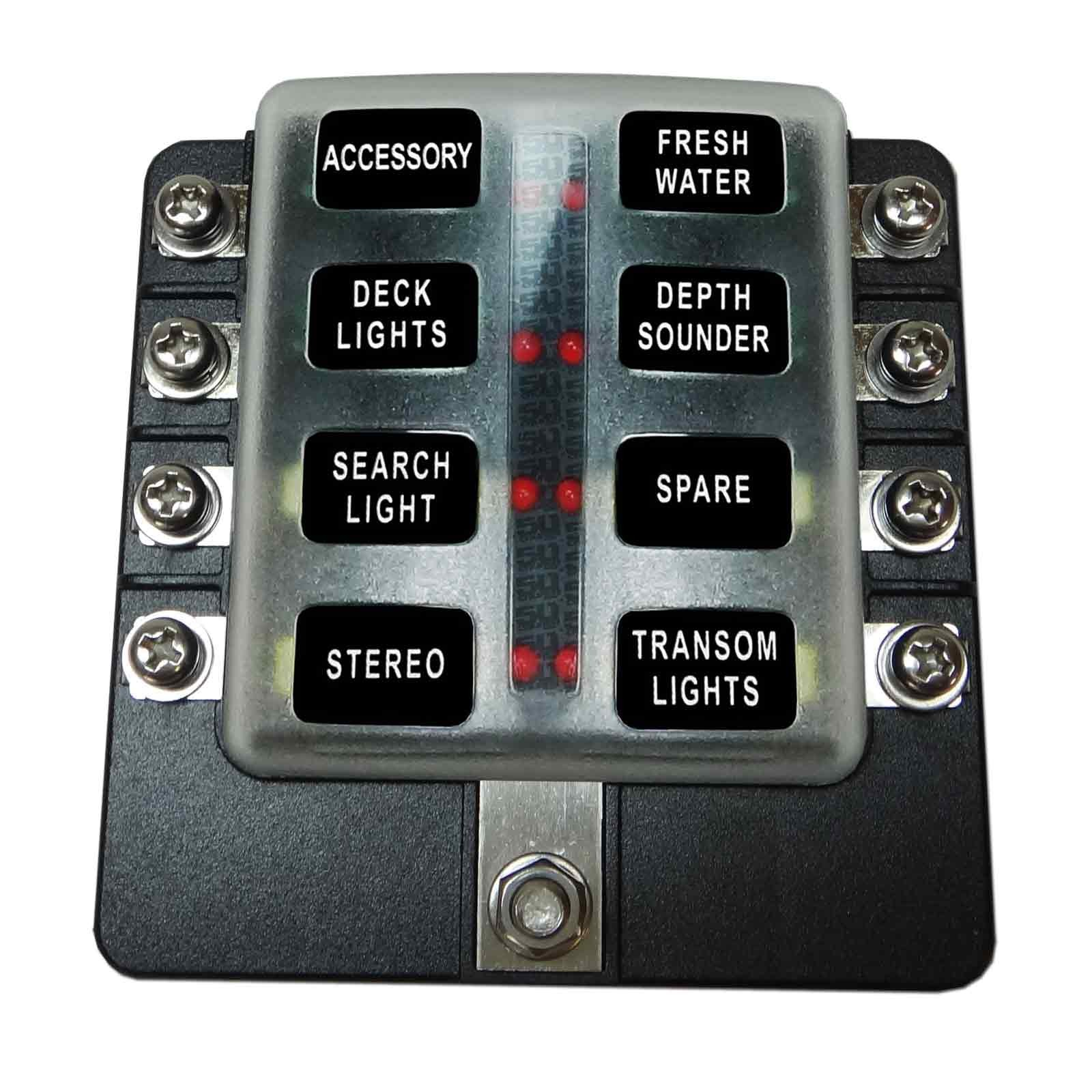 ... 8 Way Fuse Block - Screw Terminals - LED Indicators ...