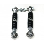 "Heavy Duty Billet Alluminum Rear Sway Bar Links Can-Am X3 Raw Silver with 5/8"" Heim Joints"