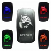 Illuminated On/Off Rocker Switch Rock Lights Jeep
