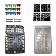 12 Way Standard LED Circuit Blade Fuse Box