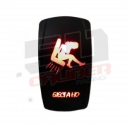 "Waterproof On/Off Rocker Switch Sexy Design ""EJect A Ho"" with RED LED Illumination"