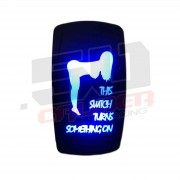 """This Switch Turns Something On"" On/Off Rocker Switch Sexy Design Waterproof with Blue LED Illumination"
