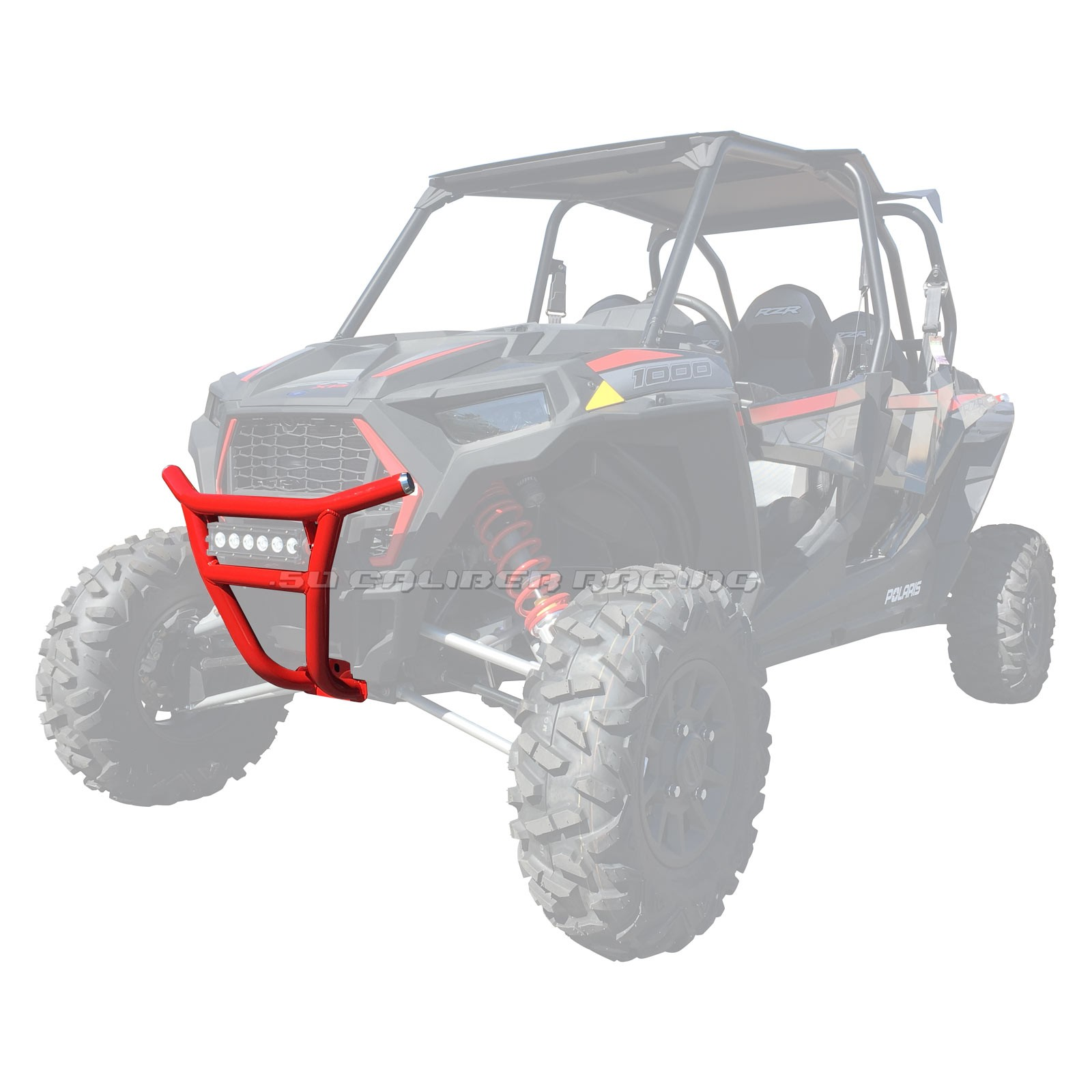 Custom tubular front bumper with LED Bar Tabs Polaris RZR