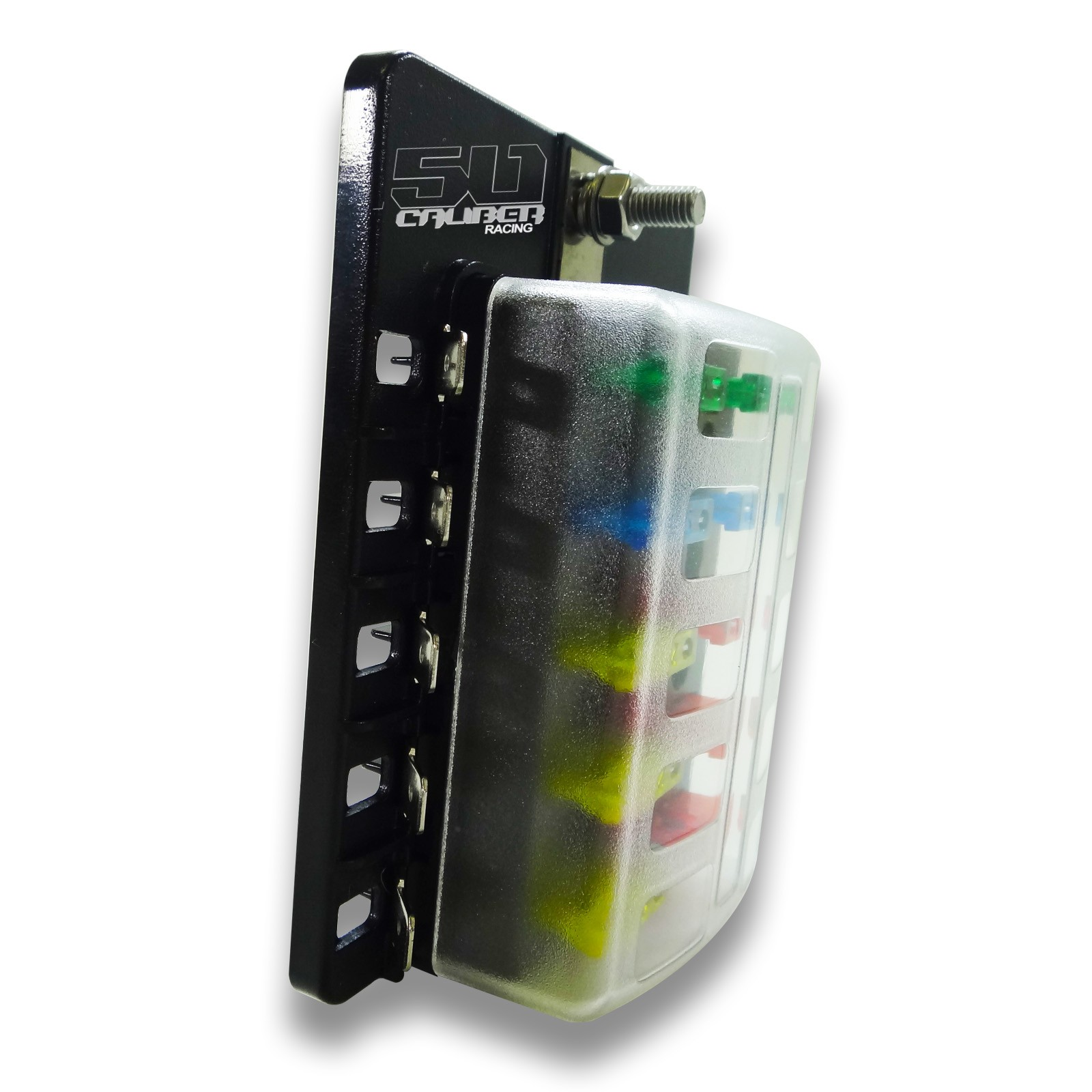 Universal 10 Way Covered 12v Circuit Blade Fuse Box Led