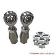 """3/4"""" Heim 1.75"""" OD Bung Panhard Bar Fab Kit - Shown with optional high misalignment spacers"""