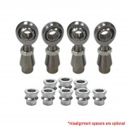 """Sway Bar Link Fab Kit - 7/8"""" Heim, 1.5""""OD .120 or .250 Wall Bung - Shown with Optional Misalignment Spacers"""