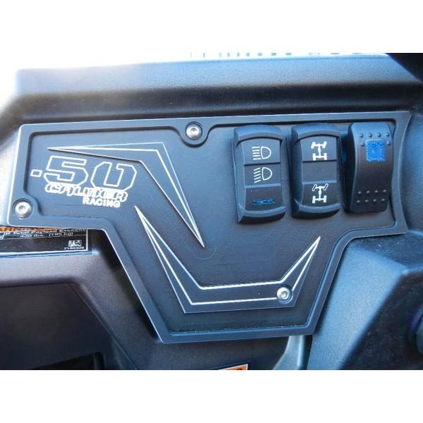 Polaris RZR XP1000 Black 50 Caliber Racing Aluminum Dash Panel Plate 2 4 Door LE