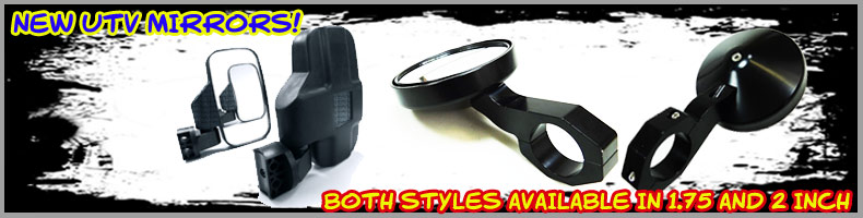 Billet Aluminum Side Mirrors for your UTV!