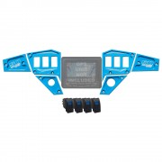 Polaris RZR Dash Panel Digital GPS 6 pc BLUE with switches