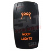 Illuminated On/Off Rocker Switch Roof Lights Orange