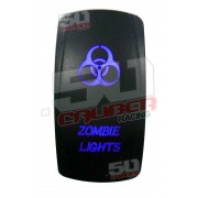 Illuminated On/Off Rocker Switch Zombie Lights Blue