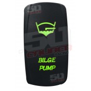 Illuminated On/Off Rocker Switch Bilge Pump Green