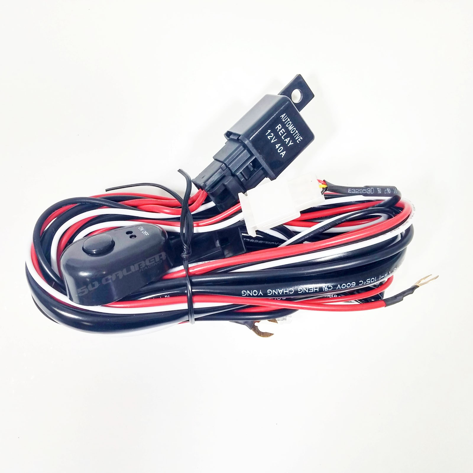 Universal Light Bar 12v Wire Harness Kit With 40 Amp Relay 30 12 Volt Fog Lamp Wiring Diagram And Switch