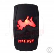 50 Caliber Racing On/Off Dome Light Girl LED Rocker Switch
