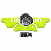 XP1000 3 piece Dash Panel Lime Squeeze with switches