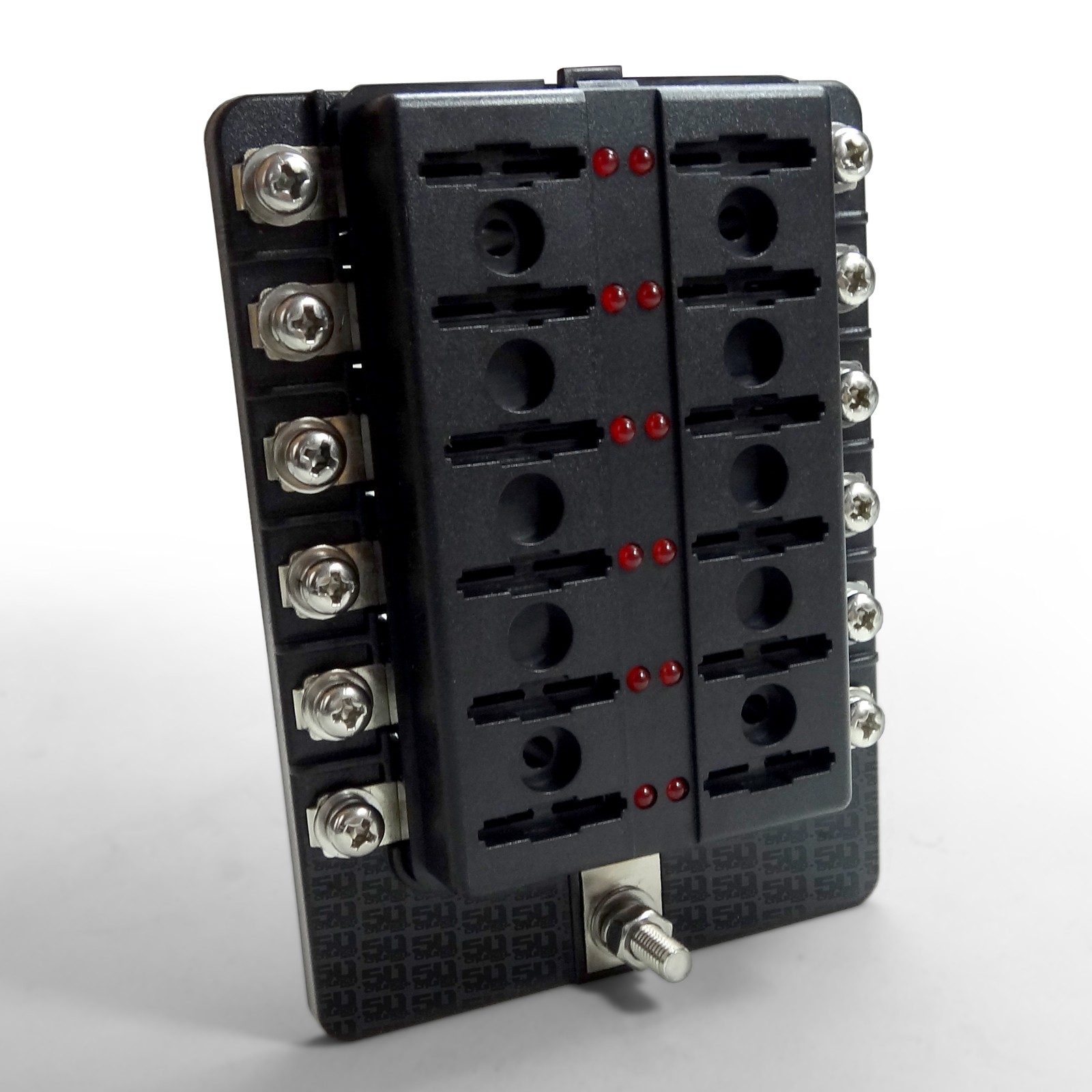 12v 12 Piece Fuse Block Power For Wiring Your Vehicle Right 1 X 4 Way Blade Box Holder Standard Led Circuit