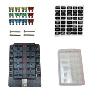 12 Way Fuse Block - Blade Terminals - LED Indicators