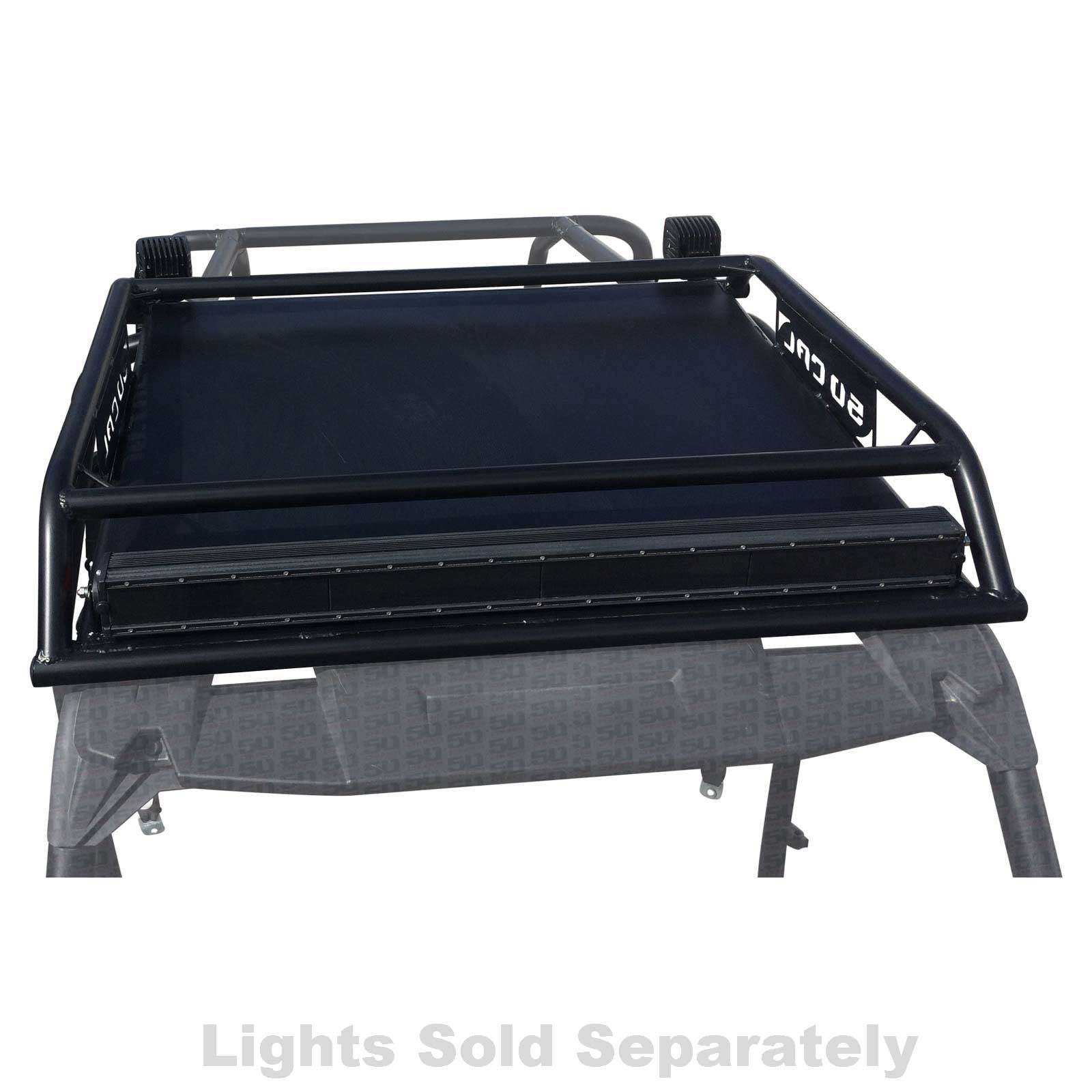 Details about 50 Cal Custom Bolt On Roof Rack 4 Seat RZR XP1000 XP Turbo