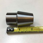 "Weld In Bung - 1"" ID Round Tube -  5/8-18 Threaded Through Right hand for custom rod ends fabricate tie rods, 4 link, etc"