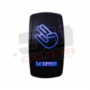 "Waterproof On/Off Rocker Switch Sexy Design ""Shocker"" with Blue LED Illumination"
