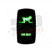 """Waterproof On/Off Rocker Switch Sexy Design """"Rear Lights"""" with Red LED Illumination"""