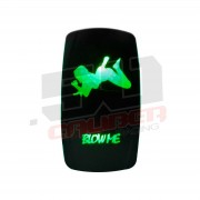 """""""Blow Me"""" On/Off Rocker Switch Sexy Design Waterproof with RED LED Illumination"""