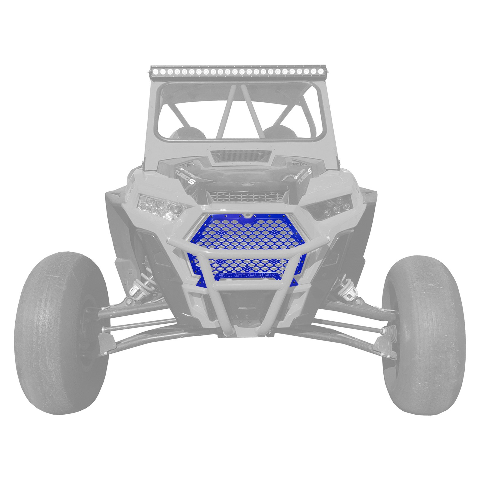 POLARIS RZR XP 1000 GRILL  WITH BLUE FRAME AND  BLUE LOGO