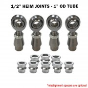 1/2 Sway Bar Link Rod End Kit - Chromoly Heim Joints and Bungs
